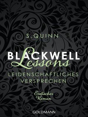 cover image of Blackwell Lessons--Leidenschaftliches Versprechen