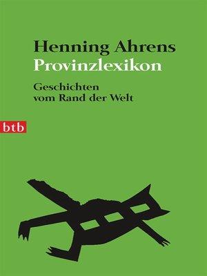 cover image of Provinzlexikon