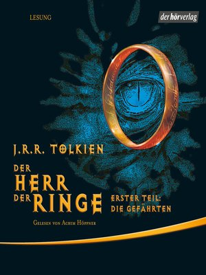 cover image of Der Herr der Ringe. Erster Teil