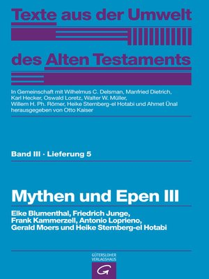 cover image of Mythen und Epen III