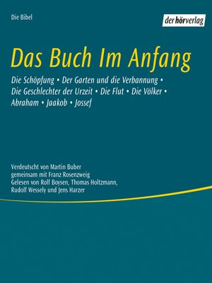 cover image of Das Buch im Anfang
