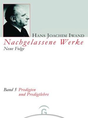 cover image of Predigten und Predigtlehre