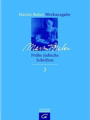 cover image of Frühe jüdische Schriften 1900-1922