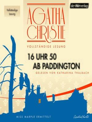 cover image of 16 Uhr 50 ab Paddington