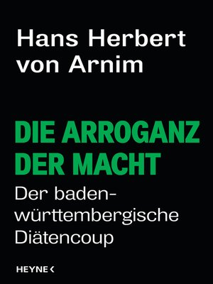 cover image of Die Arroganz der Macht