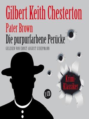 cover image of Die purpurfarbene Perücke
