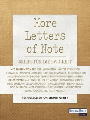 cover image of More Letters of Note