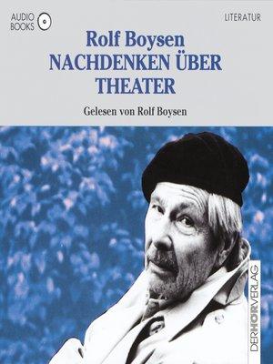 cover image of Nachdenken über Theater