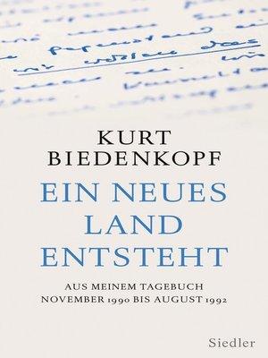 cover image of Ein neues Land entsteht