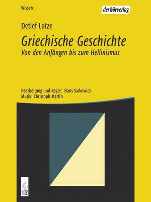 cover image of Griechische Geschichte