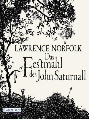 cover image of Das Festmahl des John Saturnall