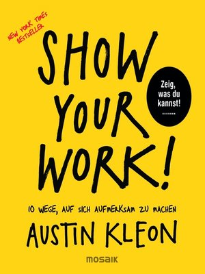 cover image of Show Your Work!