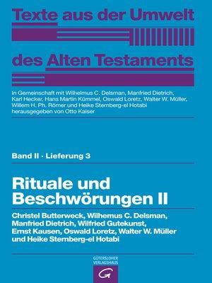cover image of Rituale und Beschwörungen II