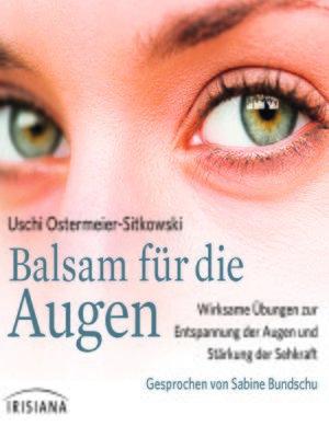 cover image of Balsam für die Augen