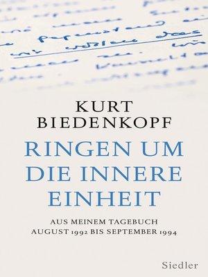 cover image of Ringen um die innere Einheit