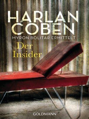 cover image of Der Insider--Myron Bolitar ermittelt