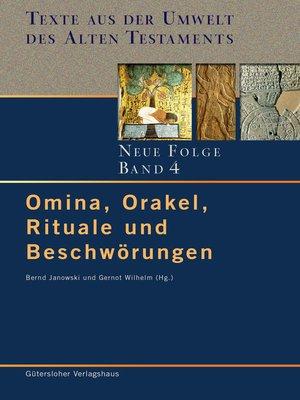 cover image of Omina, Orakel, Rituale und Beschwörungen