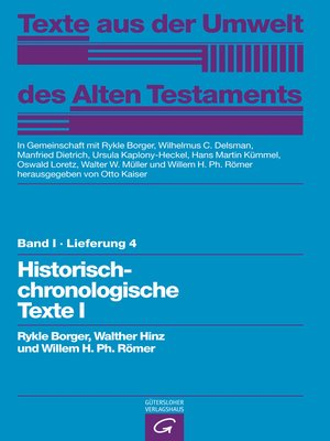 cover image of Historisch-chronologische Texte I