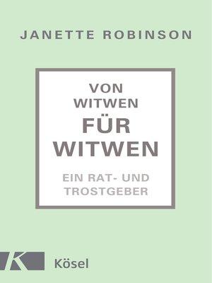 cover image of Von Witwen für Witwen