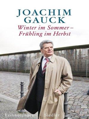 cover image of Winter im Sommer – Frühling im Herbst