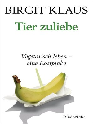 cover image of Tier zuliebe.