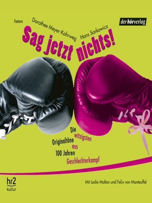 cover image of Sag jetzt nichts!
