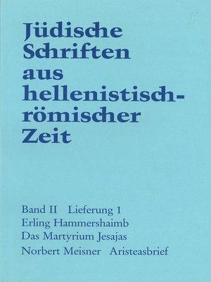 cover image of Das Martyrium Jesajas. Aristeasbrief