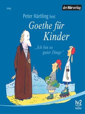 cover image of Goethe für Kinder