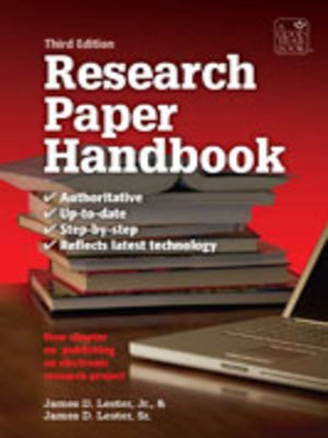 cover image of The Research Paper Handbook
