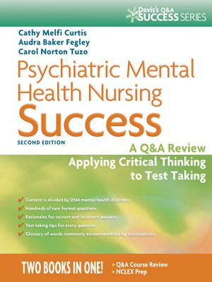 Psychiatric Mental Health Nursing Success By Cathy Melfi Curtis