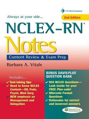 NCLEX-RN Notes by Barbara A  Vitale · OverDrive (Rakuten OverDrive