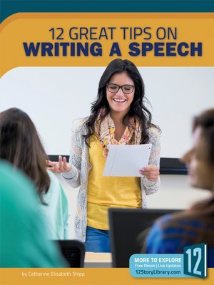 cover image of 12 Great Tips on Writing a Speech