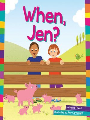 cover image of When, Jen?