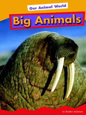 cover image of Big Animals