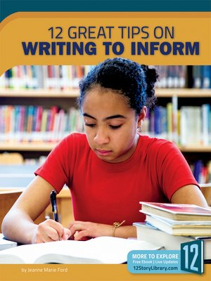 cover image of 12 Great Tips on Writing to Inform