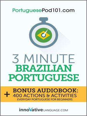 cover image of 3-Minute Brazilian Portuguese