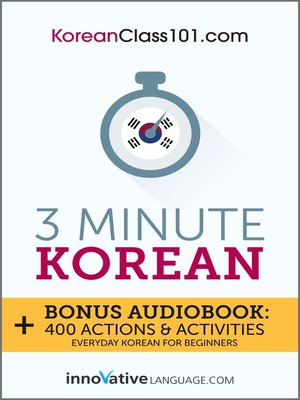 cover image of 3-Minute Korean