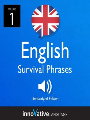 cover image of British English Survival Phrases, Volume 1