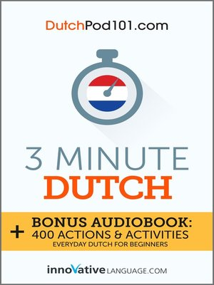 cover image of 3-Minute Dutch