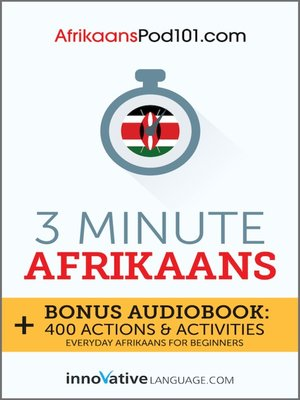 cover image of 3-Minute Afrikaans