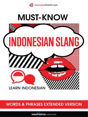 cover image of Must-Know Indonesian Slang Words & Phrases