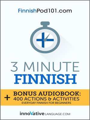 cover image of 3-Minute Finnish