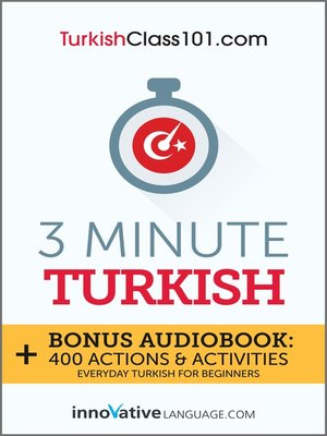 cover image of 3-Minute Turkish