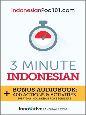 cover image of 3-Minute Indonesian