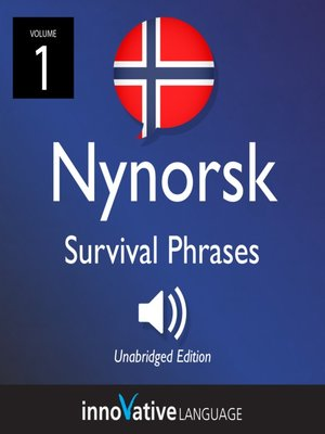 cover image of Nynorsk Survival Phrases, Volume 1