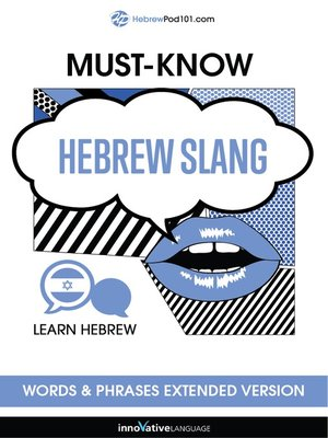 cover image of Must-Know Hebrew Slang Words & Phrases