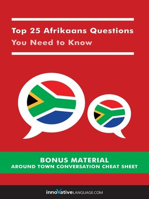 cover image of Top 25 Afrikaans Questions You Need to Know