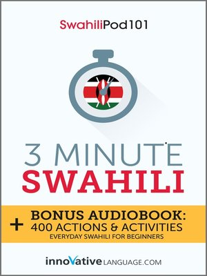 cover image of 3-Minute Swahili