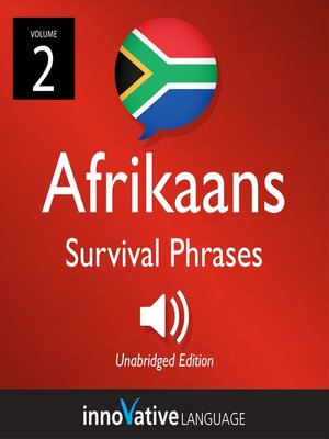 cover image of Afrikaans Survival Phrases, Volume 2