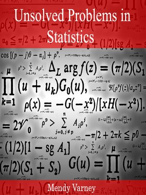 cover image of Unsolved Problems in Statistics
